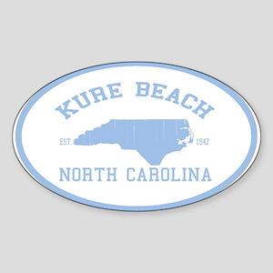 Kure Beach NC Oval Sticker
