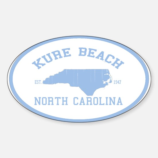 Kure Beach NC Oval Decal