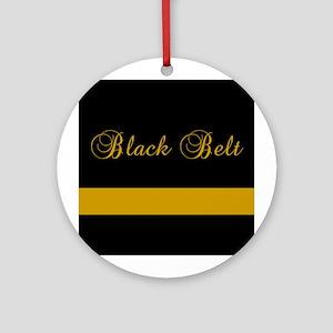 Black Belt Gold Bar Ornament (Round)