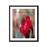Inspirational Red Rose Framed Panel Print