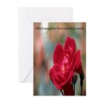 Inspirational Red Rose Greeting Cards (Pk of 10)