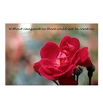 Inspirational Red Rose Postcards (Package of 8)