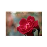 Inspirational Red Rose Rectangle Magnet (100 pack)