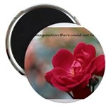 Inspirational Red Rose Magnet