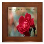 Inspirational Red Rose Framed Tile