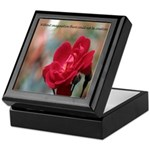 Inspirational Red Rose Keepsake Box
