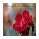Inspirational Red Rose Tile Coaster