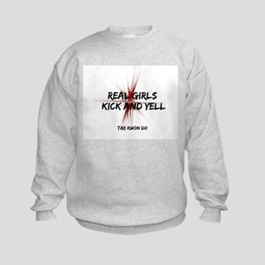 Tae Kwon Do Girls Kick Kids Sweatshirt