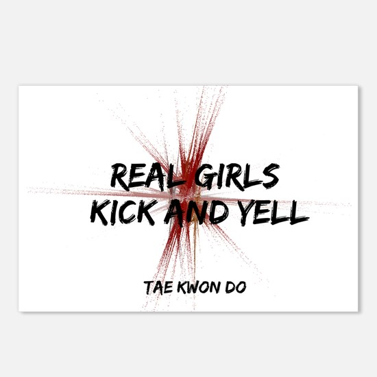 Tae Kwon Do Girls Kick Postcards (Package of 8)