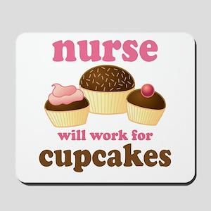 Nurse Gift Cupcakes Mousepad