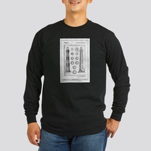 Vintage Bodie Island Lighthous Long Sleeve T-Shirt