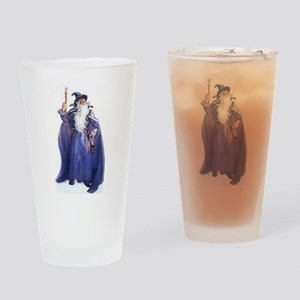The Blue Wizard Drinking Glass