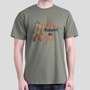 iSupport My Dad SFT Orange Dark T-Shirt