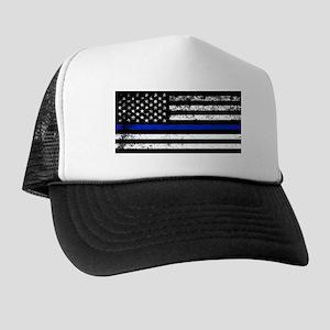 Horizontal style police flag Trucker Hat