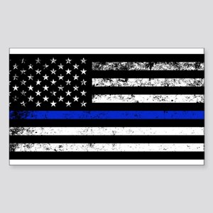 Horizontal style police flag Sticker
