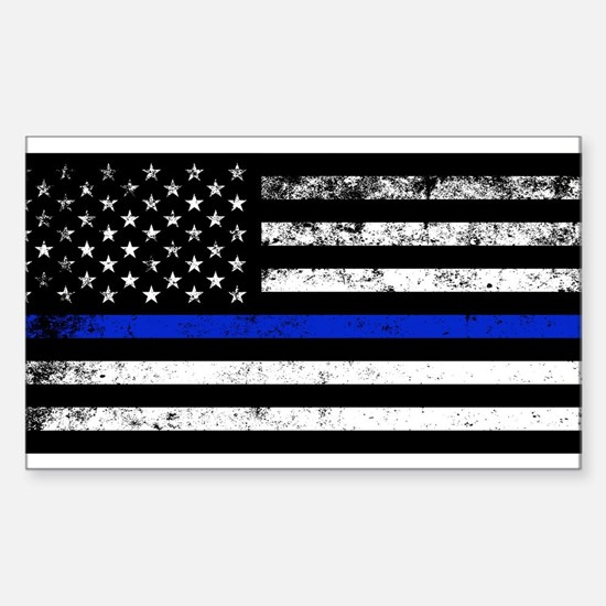 Horizontal style police flag Decal