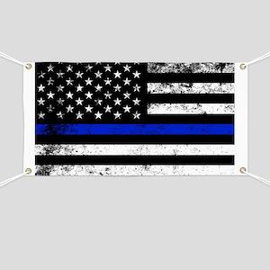 Horizontal style police flag Banner