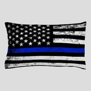 Horizontal style police flag Pillow Case