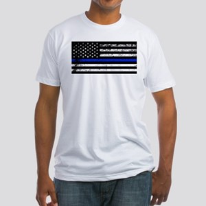 Horizontal style police flag T-Shirt
