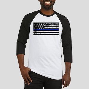 Horizontal style police flag Baseball Jersey