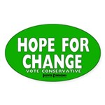 Hope and Change Oval Sticker (50 pk)