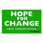 Hope and Change Rectangle Sticker