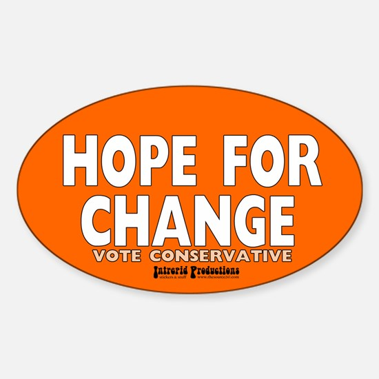Hope and Change Oval Decal