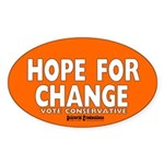 Hope and Change Oval Sticker