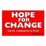 Hope and Change Rectangle Sticker 10 pk)