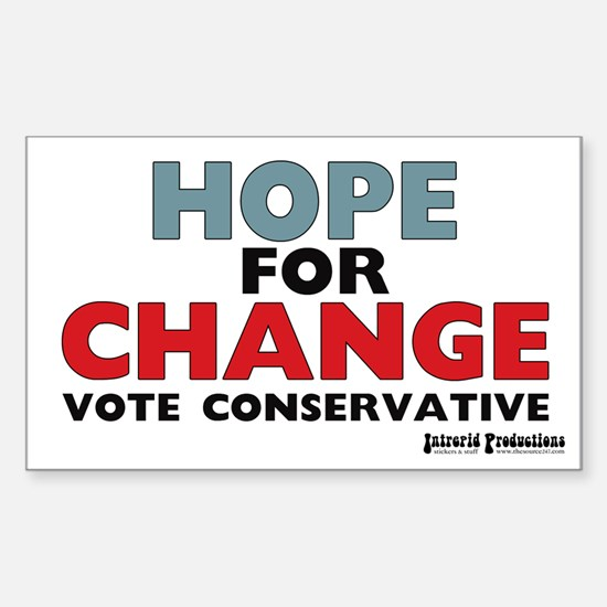 Hope and Change Rectangle Decal