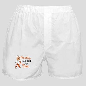 iSupport My Mom SFT Orange Boxer Shorts