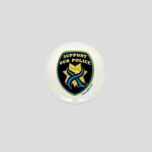 Thin Blue Line Support Police Mini Button