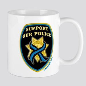 Thin Blue Line Support Police Mug