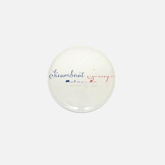 Steamboat Springs Colorado Mini Button