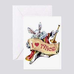 I LOVE ALICE - PINK EYES Greeting Card