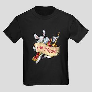 I LOVE ALICE - PINK EYES Kids Dark T-Shirt