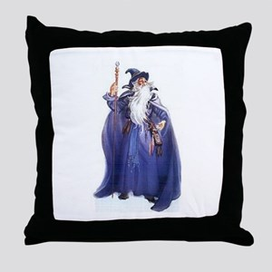 The Blue Wizard Throw Pillow