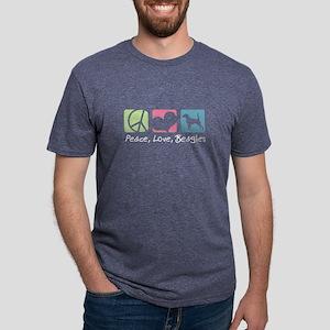 Peace, Love, Beagles Women's Dark T-Shirt