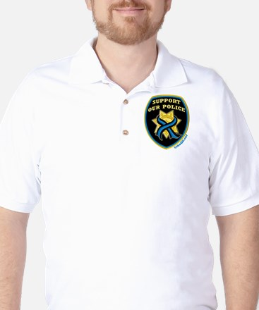 Thin Blue Line Support Police Golf Shirt