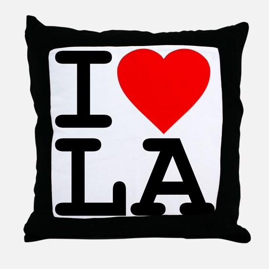 I Love LA Throw Pillow