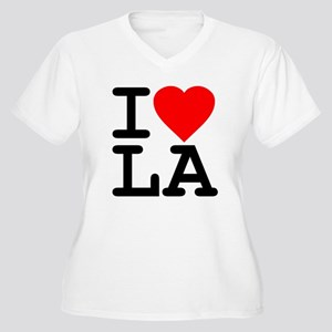 I Love LA Women's Plus Size V-Neck T-Shirt