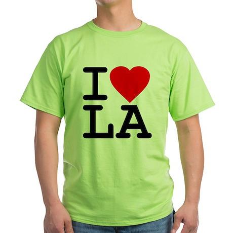 I Love LA Green T-Shirt