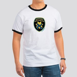 Thin Blue Line Support Police Ringer T
