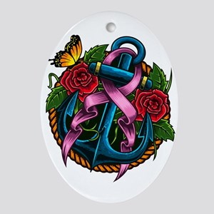 Breast Cancer Awareness - Prevention Oval Ornament