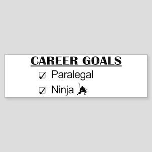 Paralegal Ninja Career Goals Bumper Sticker