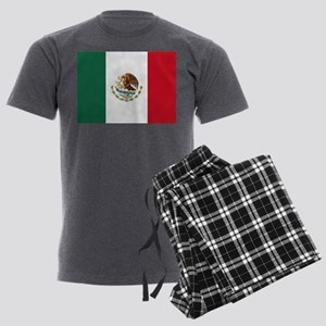 Mexican Flag Men's Charcoal Pajamas
