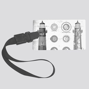 Vintage Bodie Island Lighthouse Large Luggage Tag