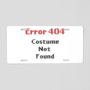 error 404 costume not found Aluminum License Plate