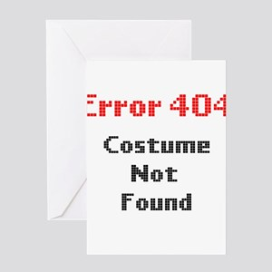 error 404 costume not found Greeting Cards