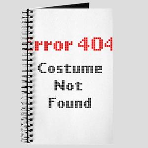 error 404 costume not found Journal